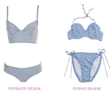 Comparativa precios bikinis para mucho pecho: TopShop 33,50€ vs Oysho 29,90€