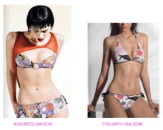 Comparativa precios bikinis para delgadas: Andrés Sardá vs Triumph 64,50€