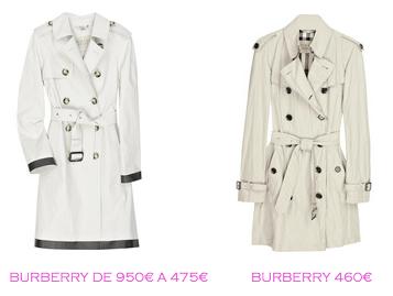 Tienda online: Net-a-porter: Gabardinas: Burberry 475€ vs Burberry 460€