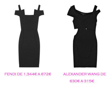 Tienda online: Net-a-porter: Vestido LBD: Fendi 672€ vs Alexander Wang 315€