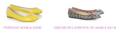 Tienda online: Net-a-porter: Bailarinas: Fendi 200€ vs Oscar de la Renta 221€