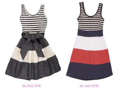 Comparativa precios: Vestidos rayas marineras: Kling 37€ vs Kling 37€
