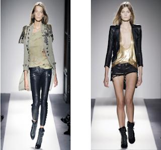 Dos diseños de Balmain. Pasarela Primavera-verrano 2010