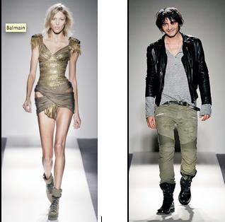 Un diseño Balmain y el diseñador Christophe Decarnin