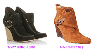 Botines cuña 3 Tory Burch vs Nine West