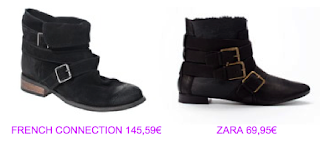 Botines estilo cowboy 3 French Connection vs Zara