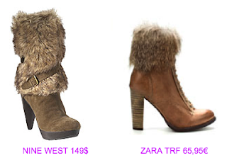 Botines estilo yeti 2 Nine West vs Zara TRF