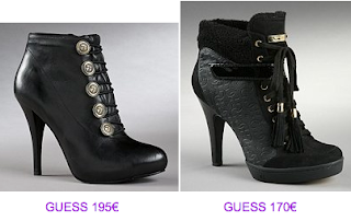 Botines negros Guess 2010/2011