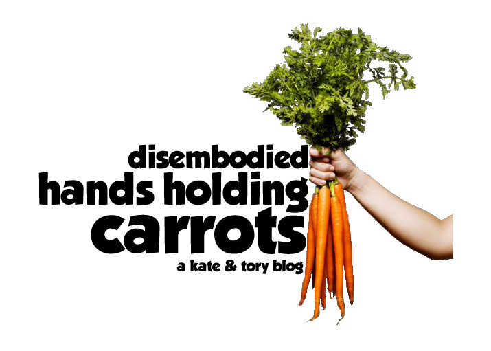 Disembodied Hands Holding Carrots