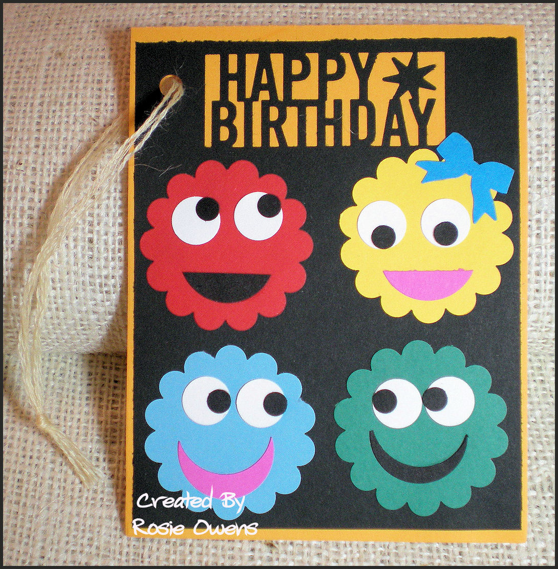 RubberStampRosie's Card Factory: FUNNY FACE BIRTHDAY CARDS