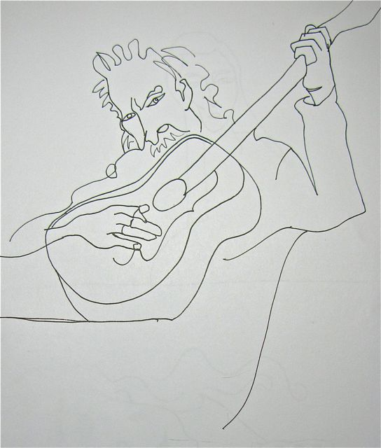 Contour Line Drawing Guitar : Yin and yang today s contour drawings