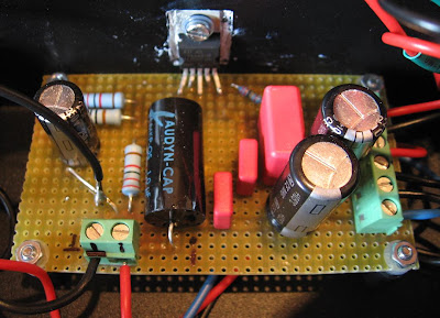 TDA2050 Chipamp Circuit on a Perfboard