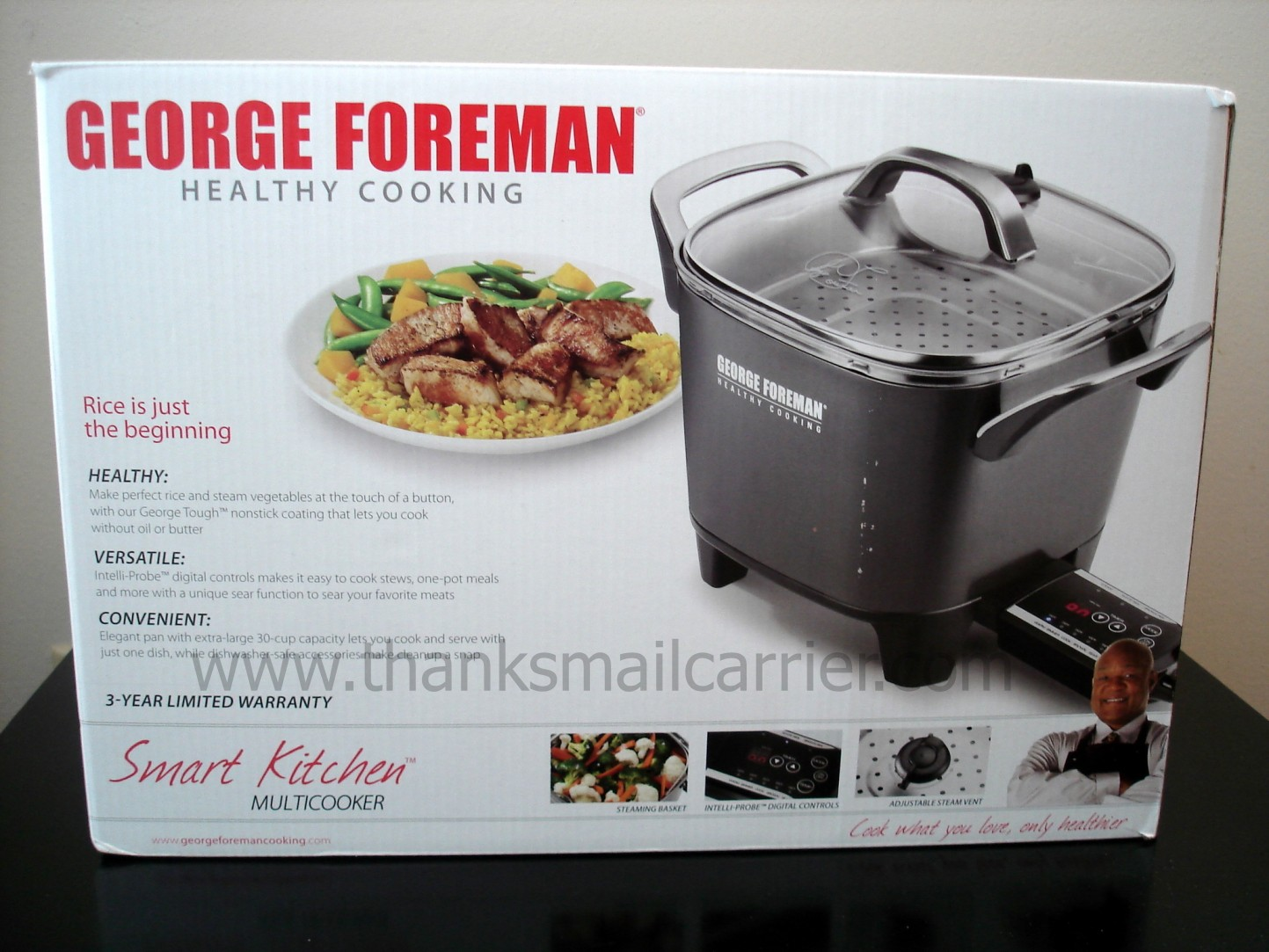 thanks mail carrier george foreman smart kitchen multicooker review rh thanksmailcarrier com George Foreman Rotisserie Instruction Manual George Foreman Lean Machine Manual