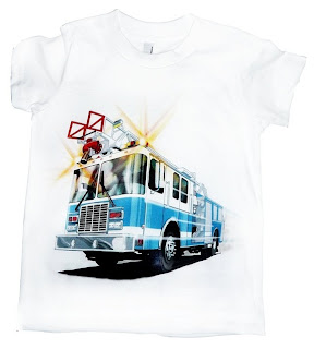 kids fire truck shirt