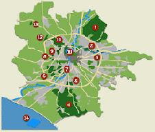 Una grande rete di parchi urbani
