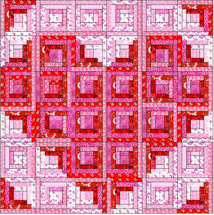 Pattern For Log Cabin Heart Quilt : ~ Zany Quilter ~: Valentine....