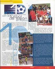 15 AÑOS DE VIDA DEPORTIVA INSTITUCIONAL DEL FUTBOL DE SALON DEL ECUADOR
