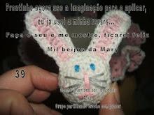 PAP COELHINHO TAMPA DE GARRAFA PET POR MARY