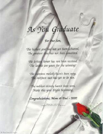 graduation poems from parents