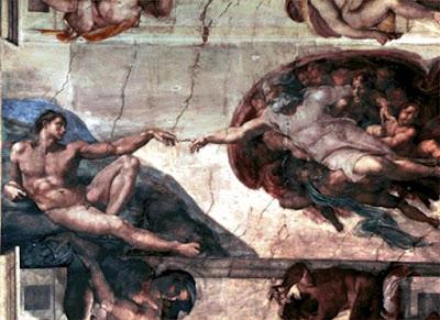 La creación de Adán en la Capilla Sixtina por Miguel Ángel