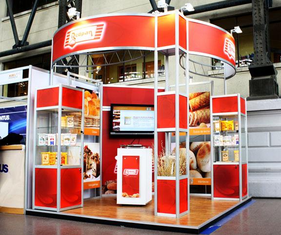 Stand feria dise o y montaje de stands para ferias for Disenos de stand para exposiciones