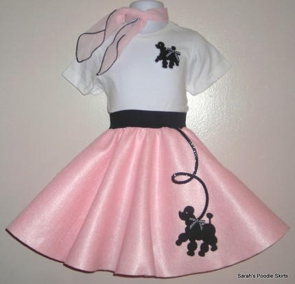 New Toddler 2pc Prancing Poodle Skirt Set by Sarahspoodleskirts