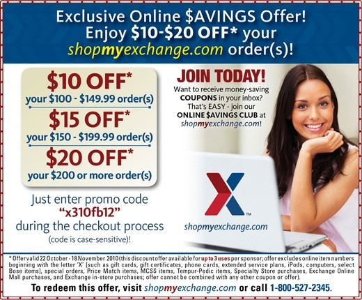 Aafes coupon code march 2018