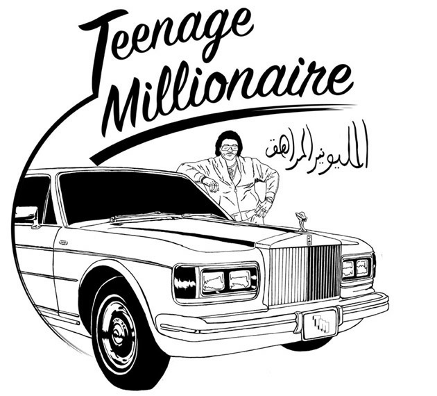 ONE OF MY FIRST GRAPHICS IVE EVER DESIGNED(TEENAGE MILLIONAIRE)