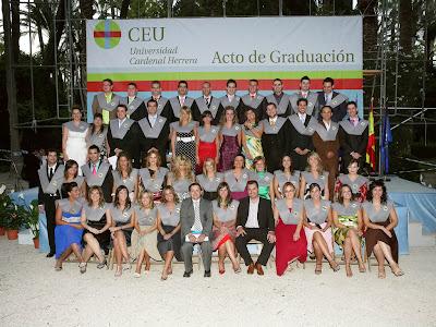 Acto de Graduación de la III Promoción de Periodismo del CEU de Elche