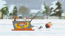el trineo de nieves de kick buttowski