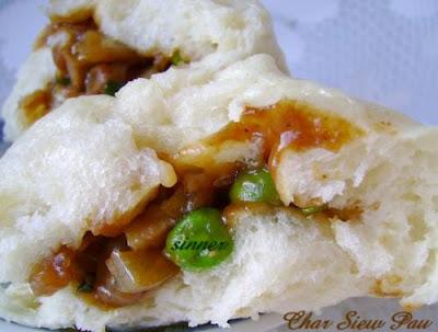 char siew bao, bbq pork bun