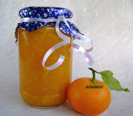 mandarin marmalade with added whisky