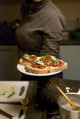 Roasted red pepper and cannellini crostini from Ottolenghi