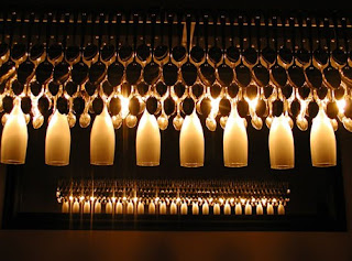 UNIK Sculptural Lighting - Spoons and Champagne Suspension