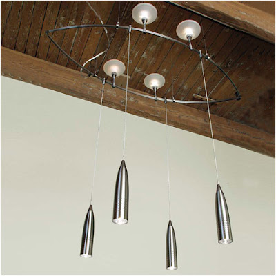 Rocket Pendant Nube 217 Fusion Jack Monorail Track by LBL Lighting