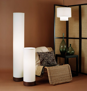 Meridian Floor Lamp, Meridian Demi and Deco Pendant