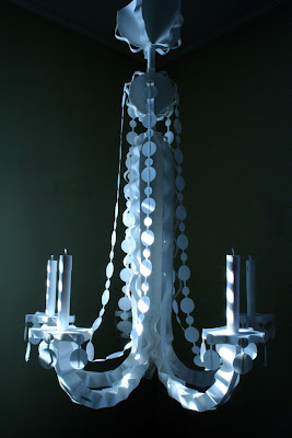 Paper Chandelier by James Vance for Bergdorf Goodman