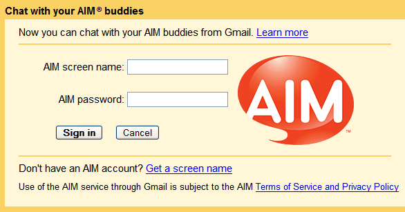7.0.8.15 Beta الرسائل chat-aim-in-gmail.png