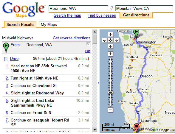Directions Without Highways In Google Maps: Driving Directions Without Map At Infoasik.co