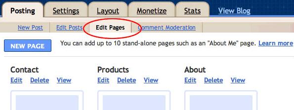Editace statických stránek