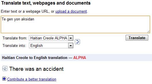 google translater. Google Translate Adds Haitian