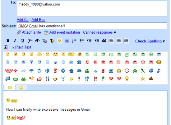 Google also added a new set of emoticons in Gmail Chat and it's strange to