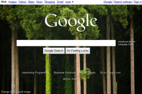 Google Promotes Homepage Wallpapers
