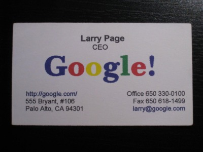 Larry pages business card colourmoves