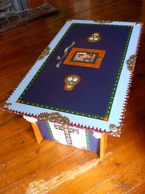Ona Filloy, Cajun Coffee Table, Cajun furniture, Frida Kahlo, Mexican style coffee table,Brisbane Designer,  @onafilloy