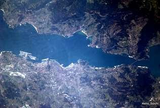 La ria de Vigo desde el espacio