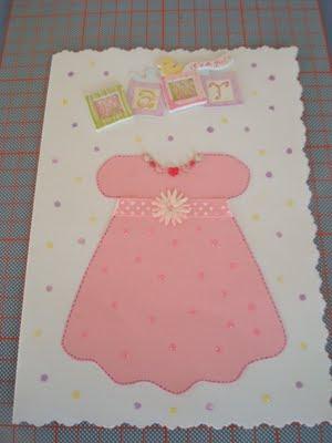 Καλλιτεχνικές Δημιουργίες  Ευχετήρια Κάρτα για Νεογέννητο Κοριτσάκι 0c503f65fbb