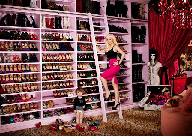 Dream closet. Walk in closet. Celebrity closets. Walk in closet ideas. Christina Aguilera closet.
