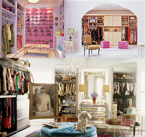 Dream closet. Walk in closet. Celebrity closets. Walk in closet ideas.