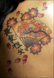 cherry blossom tattoos on shoulder
